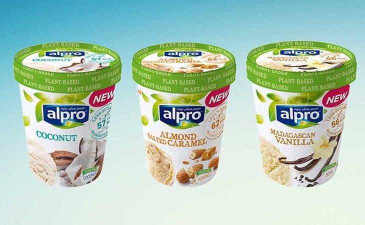 Las tarrinas Alpro contienen ingredientes 100% vegetales