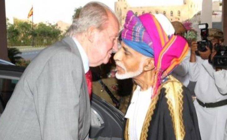 El rey Juan Carlos y el sultán de Omán