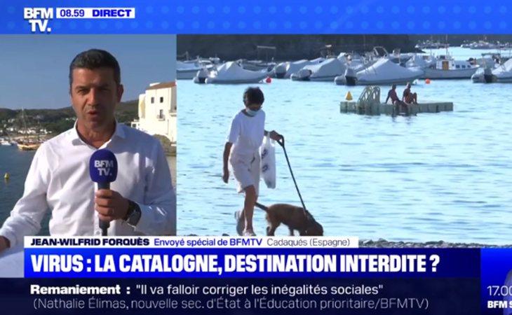 Conexión en directo desde Cataluña en la televisión francesa que se pregunta si España es la