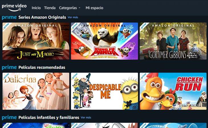 Series y películas para toda la familia
