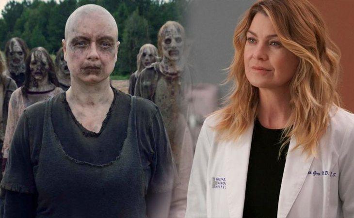 'The Walking Dead' (izq.) y 'Anatomía de Grey' (der.)