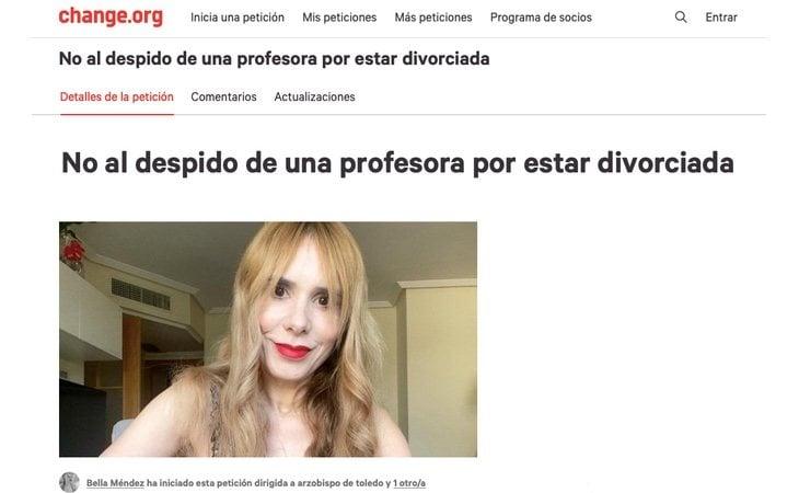 La docente ha iniciado una campaña de recogida de firmas para que su despido se anule