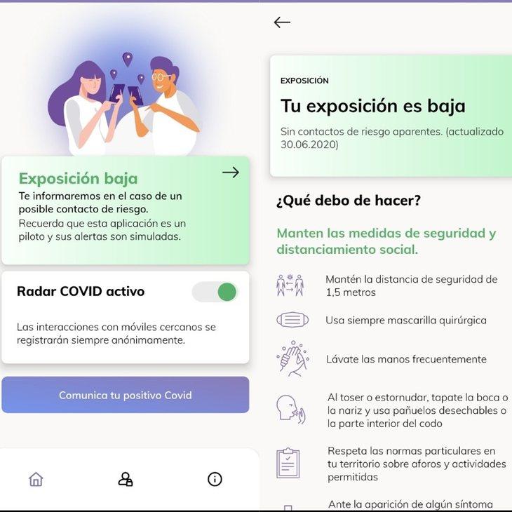 Radar COVID, la aplicación de rastreo de coronavirus en España