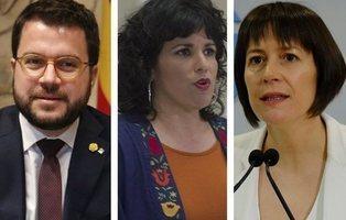 Los comentarios de Pere Aragonés, Teresa Rodríguez y Ana Pontón contra la Corona que investiga la Fiscalía