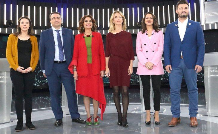 Debate a seis celebrado en RTVE de cara a las elecciones del 28A