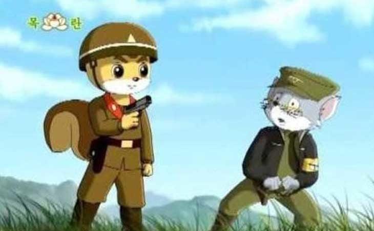 Los dibujos animados permitodos por Corea del Norte