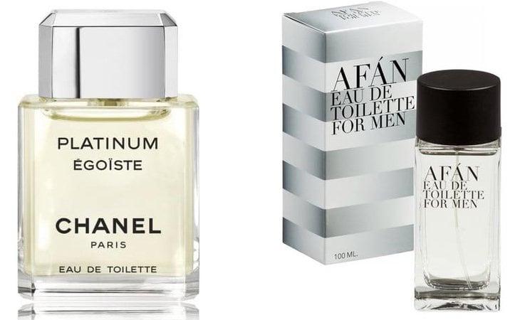 Egoiste Platinum de Chanel yAfán de Mercadona