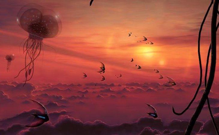 Algunos teóricos han llegado a segurir ecosistemas con criaturas flotantes en la atmósfera de Venus