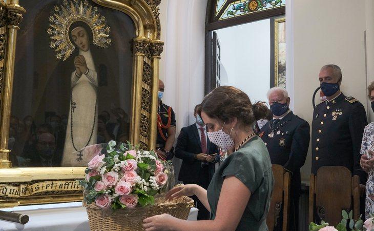 Isabel Díaz Ayuso en el acto de las fiestas de la Virgen de la Paloma