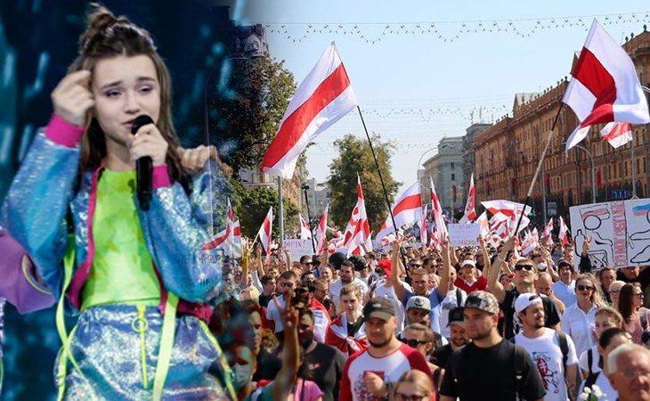 Bielorrusia, único país que ha estado presente en todas las ediciones del certamen, atraviesa su mayor crisis política en los últimos años tras la victoria de Lukashenko