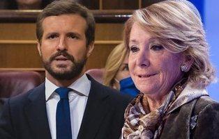 Esperanza Aguirre reaparece para lanzar una pulla a Pablo Casado
