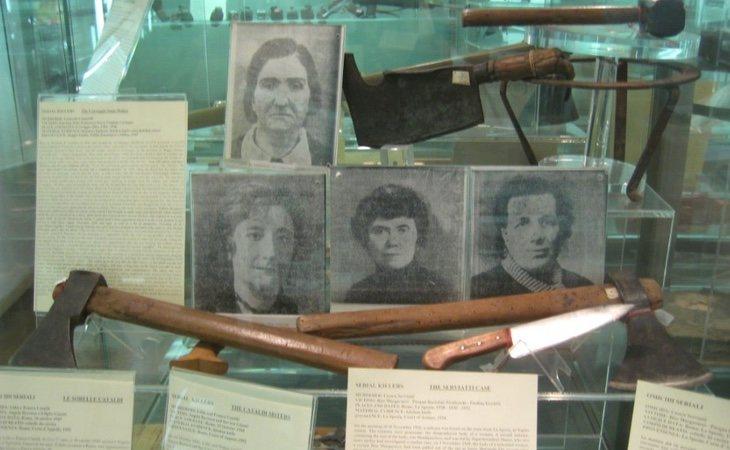 Las víctimas de Leonarda Cianciulli y la asesina, en una exposición permanente en el Museo Criminológico de Roma