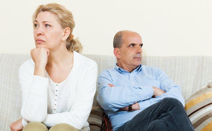 Culparse el uno al otro no es constructivo en una discusión de pareja