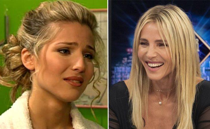 Elsa Pataky en 'Al salir de clase' (izq.) y en la actualidad (der.)