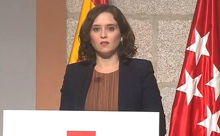 Isabel Díaz Ayuso anuncia las nuevas restricciones en la Comunidad de Madrid
