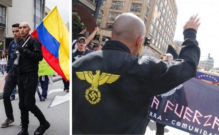 Los nazis colombianos copian todos los elementos estéticos de los grupos europeos