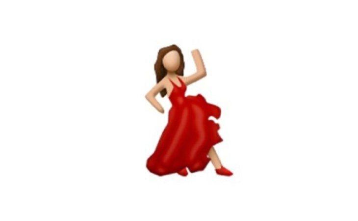 Este emoji no representa una flamenca