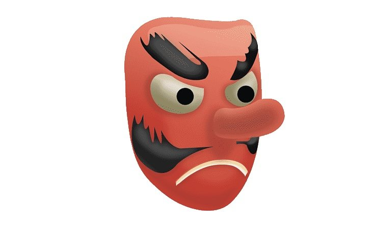 Este emoji no representa un demonio... como tal