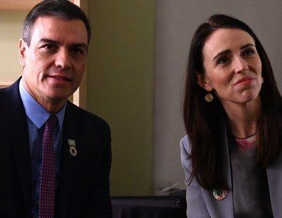 La primera ministra de Nueva Zelanda reconoce que Pedro Sánchez es el líder mundial al que más respeta