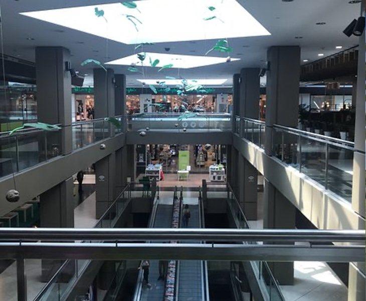 El centro se concibió para albergar 138 tiendas, pero prácticamente todas quedaron vacías y solo se quedó El Corte Inglés, 12 restaurantes, una bolera y un cine