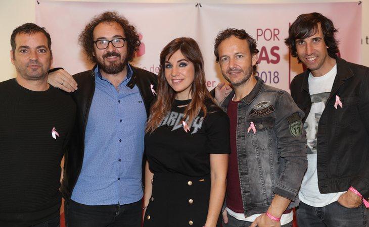 La Oreja de Van Gogh con Leire Martínez, su vocalista, en el centro
