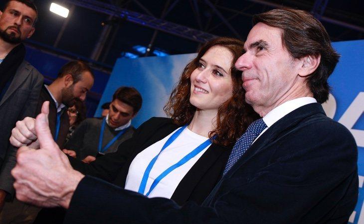 Aznar no está de acuerdo con la deriva que está experimentando el Gobierno de Isabel Díaz Ayuso