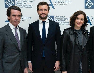 Aznar envía una inquietante advertencia a Pablo Casado por la deriva de Isabel Díaz Ayuso