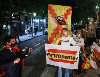 """Manifestantes del barrio de Salamanca en contra del estado de alarma en Madrid: """"¡Viva Hitler!"""""""