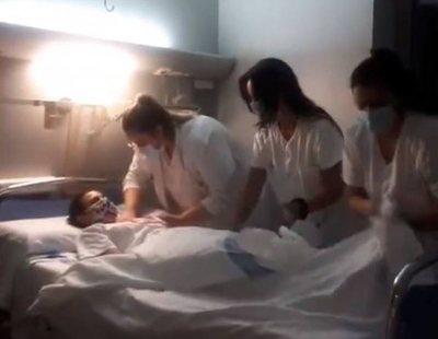"""Investigan a cuatro enfermeras por un polémico video """"burlándose de los muertos"""""""
