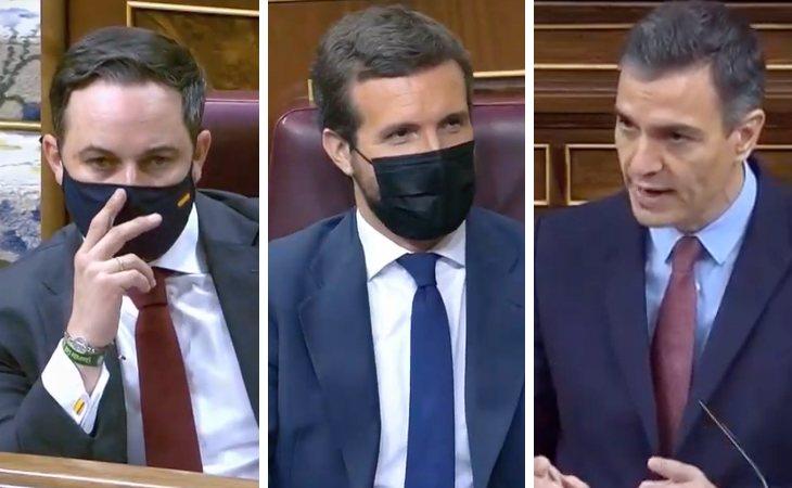 Pedro Sánchez lanza un recado a Pablo Casado preguntado a Abascal si la moción de censura 'se dirige contra el PP, para ocupar el espacio de la ...