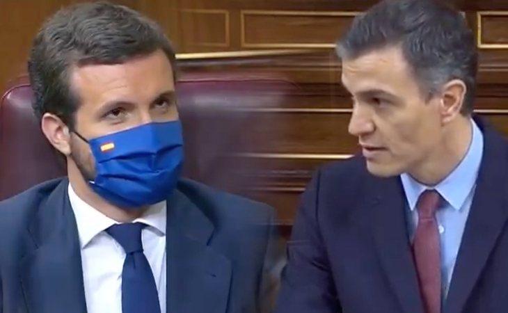 Pedro Sánchez se dirige a Pablo Casado: 'Le pido que no regale un éxito a la ultraderecha que se volverá contra todos. Le pido que interrumpa esta ...