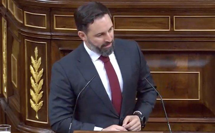 Santiago Abascal comienza su réplica a Pedro Sánchez con descalificaciones: ''Solo nos faltaba que el campeón del aborto, de la eutanasia y el ...