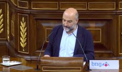 Néstor Rego (BNG) se reafirma en su negativa a la moción de VOX: 'Ustedes han reafirmado aquí que son un partido fascista'. Le recuerda el exilio ...