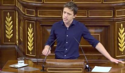 Íñigo Errejón (Más País) confirma su voto en contra,  llama 'cobarde' a Abascal y le compara con el matón de un instituto. 'Ustedes tratan ...