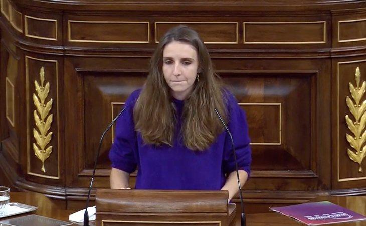 Lucía Muñoz (Unidas Podemos): 'Ayer el señor Abascal alcanzó el récord de bulos por minuto. me pregunto si es normal la distancia entre su ...