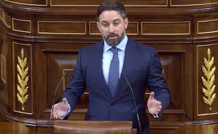 Santiago Abascal responde a Unidas Podemos: 'Señoras de Podemos que avanzan hacia una república feminista, no representan a las mujeres'
