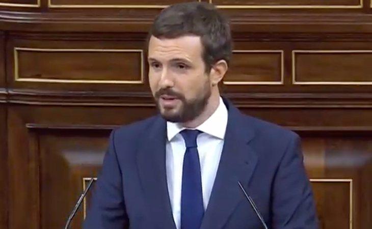 Pablo Casado (PP), a VOX: 'Lo que hoy nos convoca aquí es una moción de de impostura. Es una pérdida de tiempo'