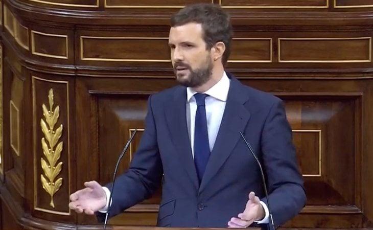 Pablo Casado (PP), a Abascal: 'Lo que se vota hoy es si usted está capacitado para ser presidente de España. Si su partido tiene la experiencia la ...
