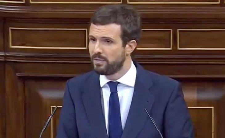 Pablo Casado: 'VOX es el seguro de vida de Sánchez para seguir de inquilino de La Moncloa. Son ustedes la derecha que más gusta a la izquierda'