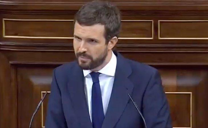 Pablo Casado (PP), a Santiago Abascal: 'Votaremos no a su candidatura para presidir el Gobierno de España. Votaremos no porque decimos no a la ...