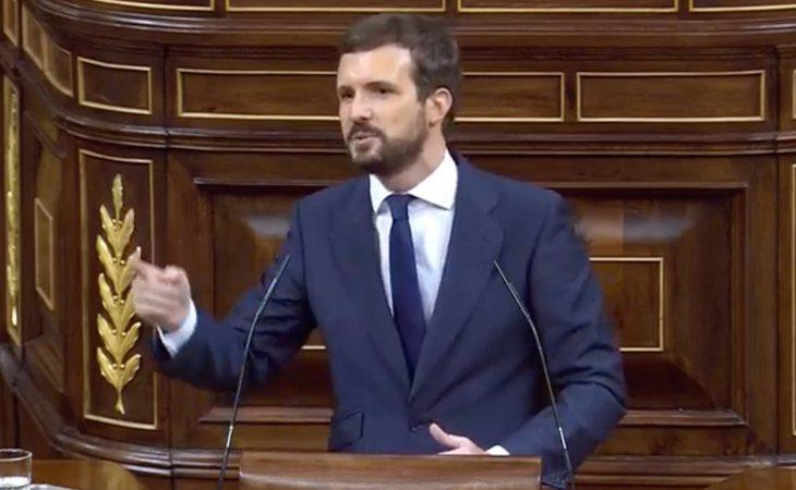 Pablo Casado, a VOX: 'No somos como ustedes. Somos la fuerza tranquila de los españoles. Esta fuerza sensata y moderada que volverá a representar a ...