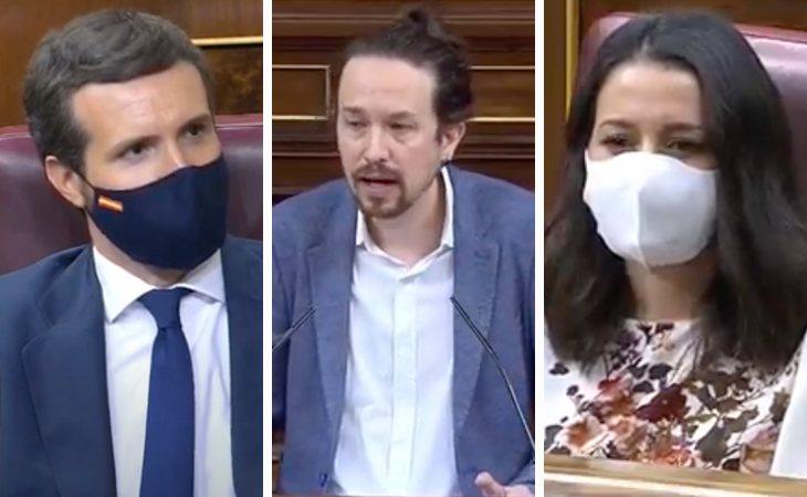 Pablo Iglesias: 'El 50% de los votantes de la derecha piensa que PP y Cs deberían votar a favor de Abascal. Ustedes están perdidos, señor Casado y ...