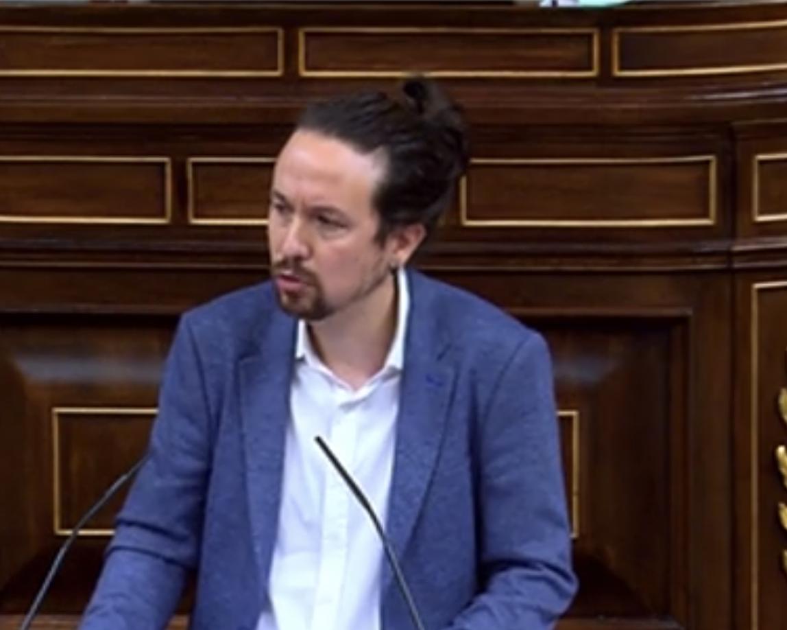Iglesias invoca la tradición de Cánovas del Castillo y los liberales de Cádiz para que PP y Ciudadanos se alejen de la ultraderecha de VOX