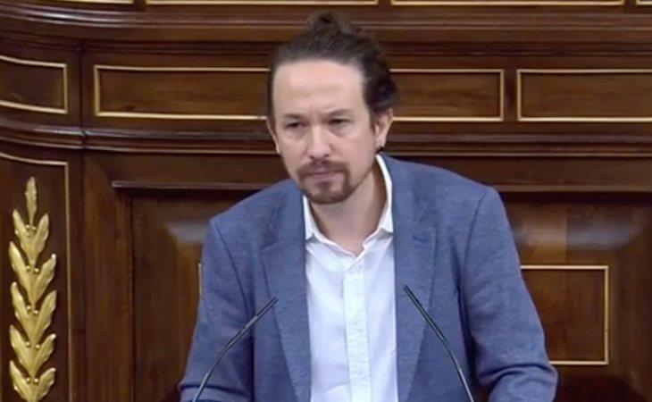 Pablo Iglesias: 'Cada vez que VOX defiende la monarquía, está acortado la vida de la institución. No son monárquicos, son simplemente ...