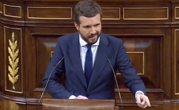Pablo Casado (PP) responde a Iglesias: 'Pensaba que subiría aquí para anunciar su dimisión'