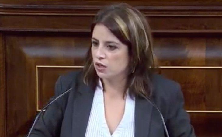 Adriana Lastra (PSOE): 'La extrema derecha no ha venido a proteger a los trabajadores, sino a aplastarlos. No ha venido a proteger sus derechos, sino ...