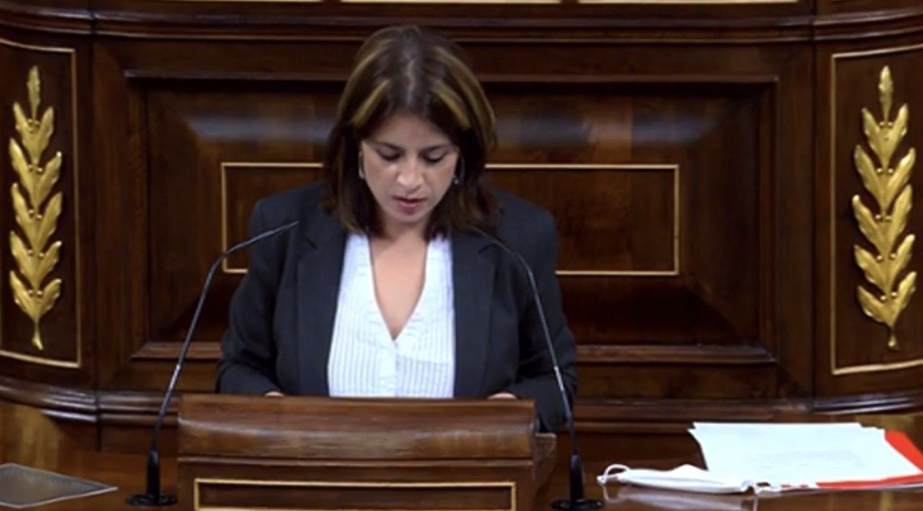 Adriana Lastra: 'Casi cada día, las sedes socialistas sufren destrozos y pintadas'. 'Sus palabras, señor Abascal, generan odio y son responsables ...