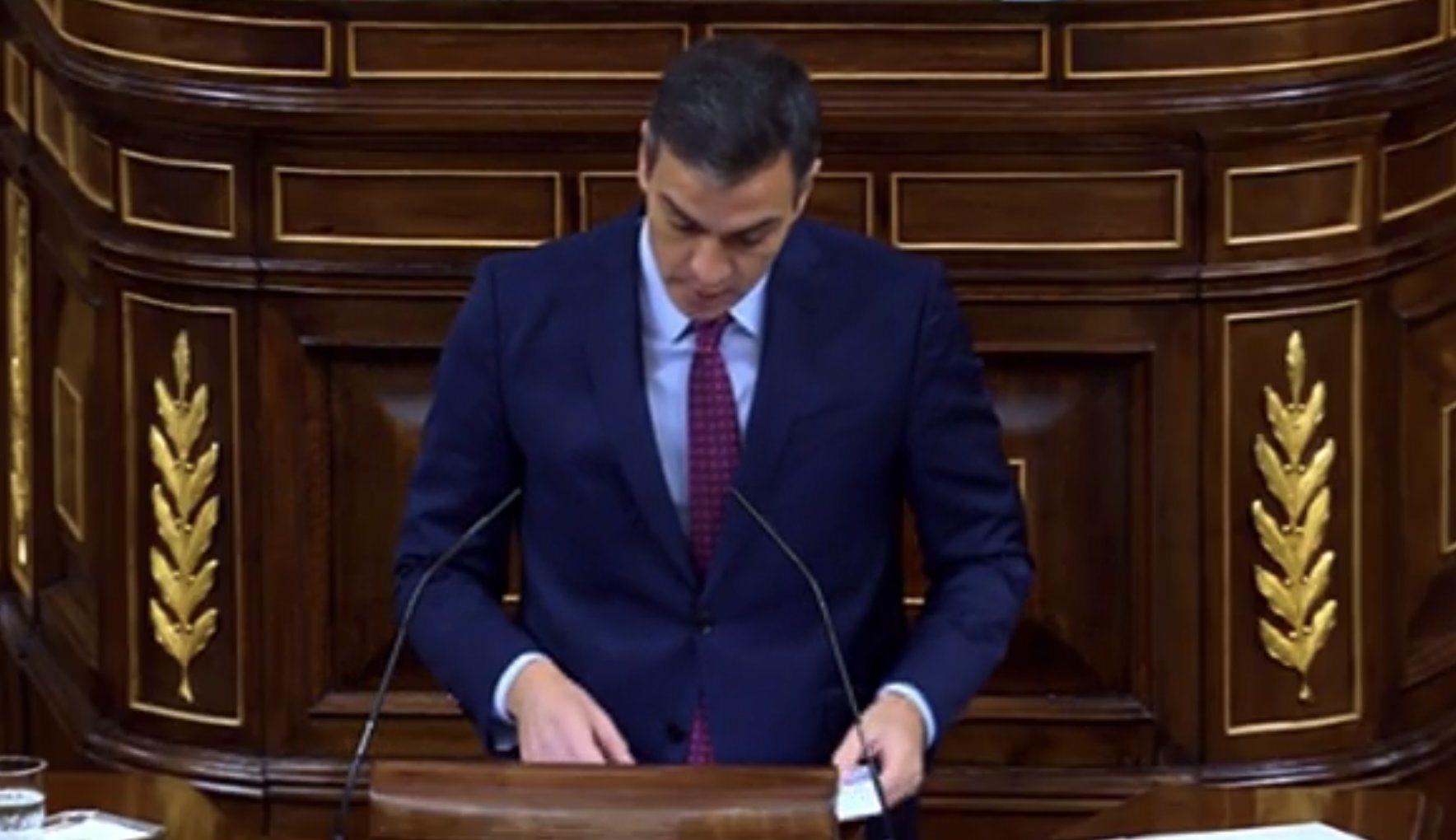 Pedro Sánchez: 'Está claro que no tiene ningún tipo de apoyo porque no tiene proyecto para este país, más que arremeter contra quienes no ...