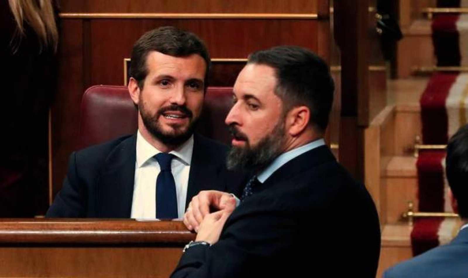 El PP califica como 'punto de inflexión' en su relación con VOX el discurso de Casado durante la moción de censura. Aseguran que Casado lo ha ...