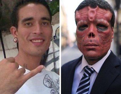Se amputa la nariz y modifica todo el rostro en Ourense para ser el villano de Capitán América